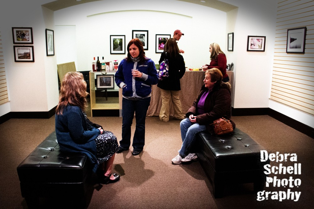 Friends gather at the Willow Suites Gallery in Lebanon, Pa. during my art exhibit gallery opening on Dec. 1, 2012.
