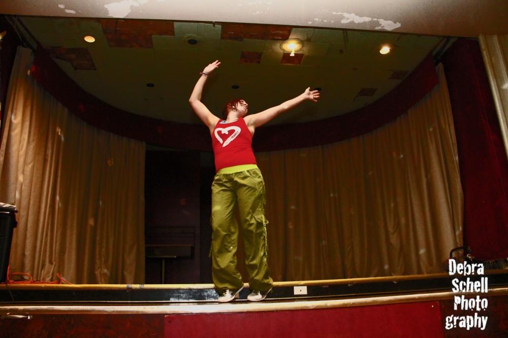 Kim dancing during the Mooseheart Zumbathon® on Friday, Dec. 14.