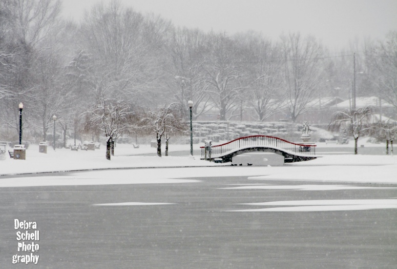 It snowed a bit today ;) This is at Italian Lake in Harrisburg.