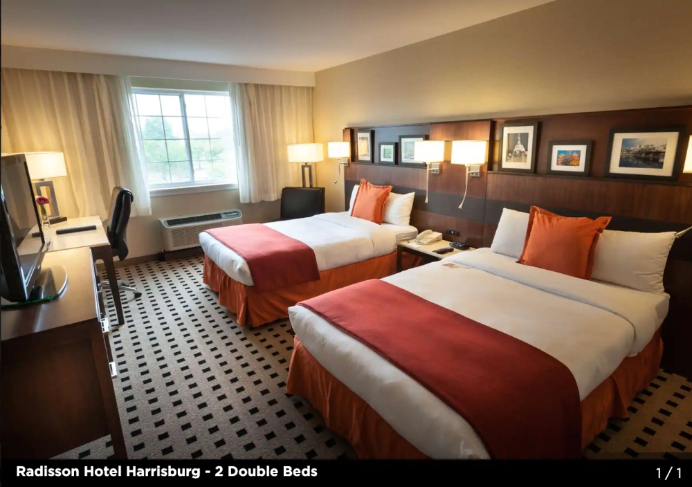 Radisson Hotel Harrisburg Double Room