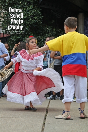 Dancers at the Columbian Embassy