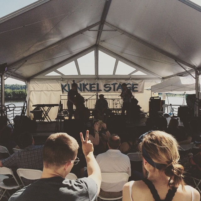 Rivers Band at the Kunkle Plaza Stage, 2015 Artsfest